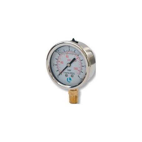 MANOMETRO D.100 0-12 BAR 1/2 RAD.INOX GL