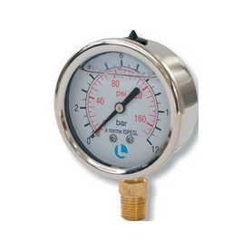 MANOMETER D.63 0-12 BAR 1/4 RAD ROSTFREI GL
