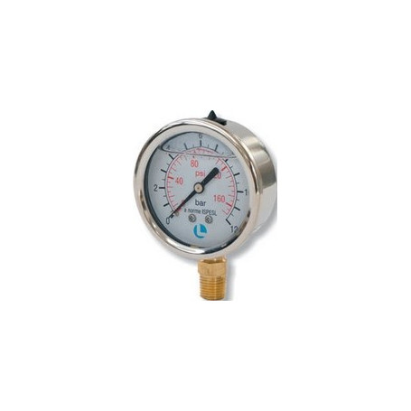 PRESS GAUGE INOX D.63 0-12 BAR 1/4