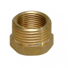BRASS REDUCING COUPLINGS 3/4X3/8