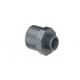 PVC NIPPLE SOCKET 25X20X3/8