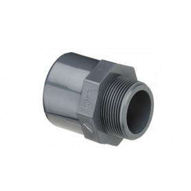 PVC NIPPLE SOCKET 20X16X3/8