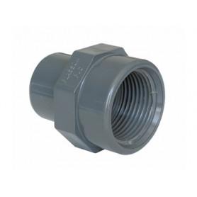 PVC ADAPTOR M/F 75X2.1/2