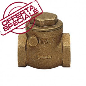 SWING CECK VALVE FF C/TEN RUBBER SB 4''
