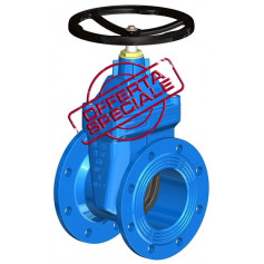 FLAT BODY GATE VALVE DN100 PN16 SOFT SEATED+HW