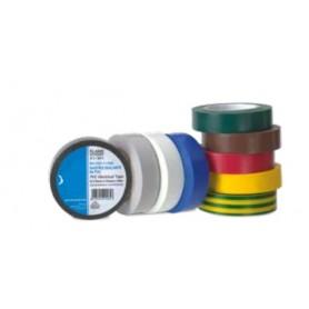 NASTRO ISOLANTE PVC SPESSORE 0,15mm 19MMX25MT COLOR GIALLO-VERDE