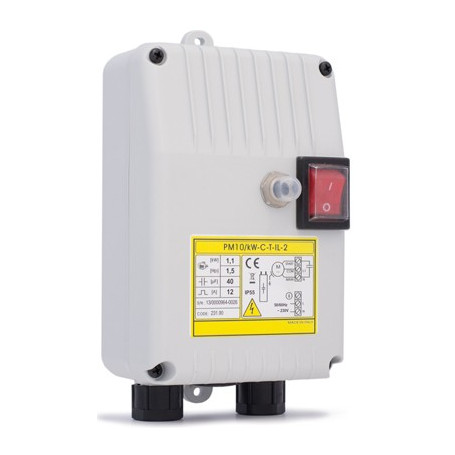 SINGLE-PHASE PROTECTION - 1 PUMP 0.37kW-20C-4T-IC