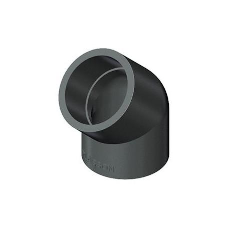COUDE EN PVC A 45' 125