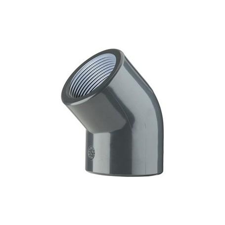 COUDE EN PVC 45' 40X1.1/4