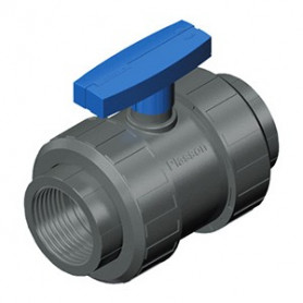 TWO NUT VALVE PVC 1/2 - TEKNICA