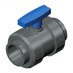TWO NUT VALVE PVC D.40 - TEKNICA
