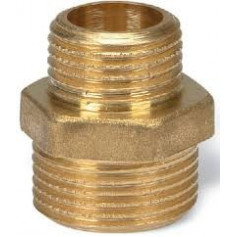 BRASS REDUCING NIPPLE 1/2X3/8