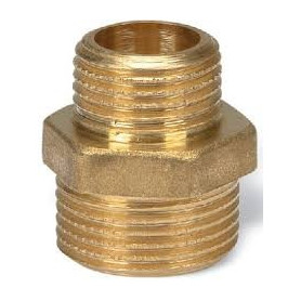 BRASS REDUCING NIPPLE 3/8X1/4