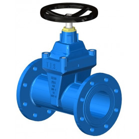 LONG BODY GATE VALVE DN100 PN16 SOFT SEATED+HW