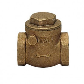 SWING CECK VALVE FF C/TEN RUBBER SB 3/4''