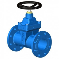 LONG BODY GATE VALVE DN150 PN16 SOFT SEATED+HW