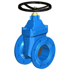 FLAT BODY GATE VALVE DN250 PN10 SOFT SEATED+HW