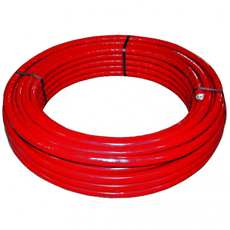 MULTILAYER PIPE 26X3MM AL0.3 W/ RED CLADDING MT50