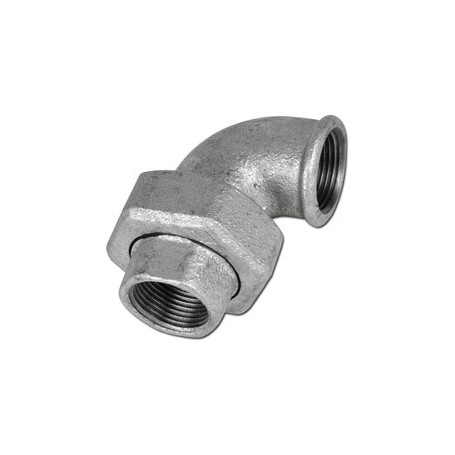 CAST-IRON UNION ELBOW, TAPER SEAT F/F 3/4