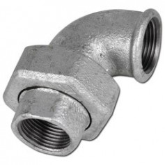 CAST-IRON UNION ELBOW, TAPER SEAT 11/2