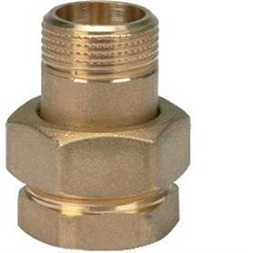 BRASS COUPLING 3/4 MF ORING