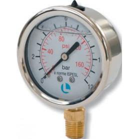 MANOMETRO D.100 0-60 BAR 1/2 ATTACCO RADIALE INOX GLICERINA
