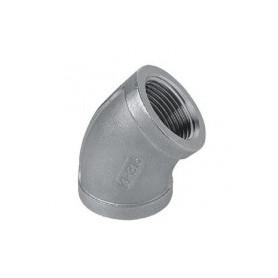 COUDE 45' FF 3/8 INOX 316