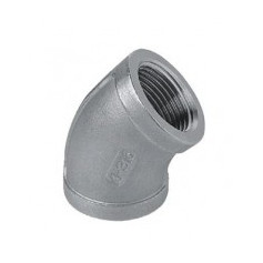 ELBOW 45' FF 3/8 STAINLESS STEEL - 316