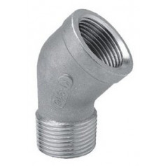 ELBOW 45' MF 4'' STAINLESS STEEL - 316