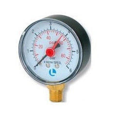 MANOMETER D.63 0-6 BAR 1/4 RAD ABS