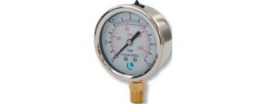 PRESSURE GAUGES WITH STAINLESS STEEL AND GLICERINE BOX