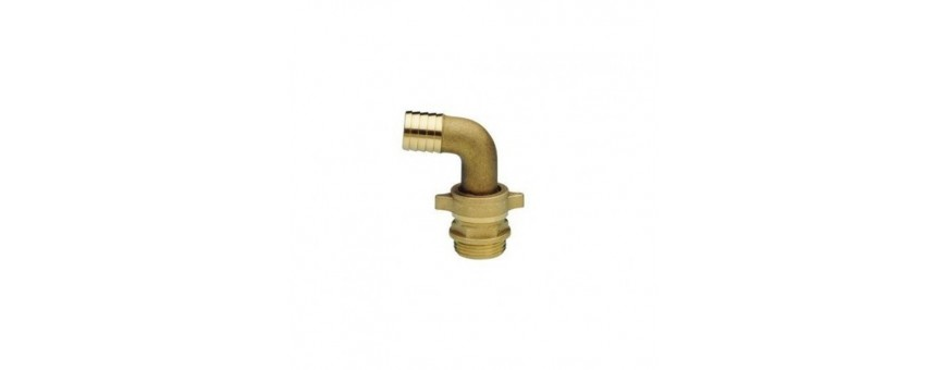 BRASS HOSE HOLDER FITTINGS - CURVED