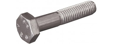 ZINCOATED SCREW - PARTIALLY THREADED