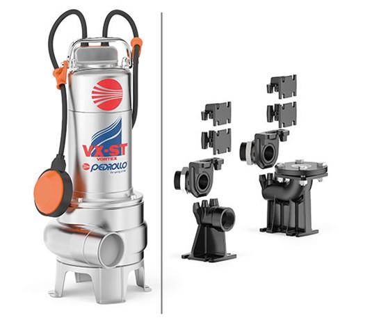 Elettropompe sommergibili per acque luride a girante arretrata serie VX-ST